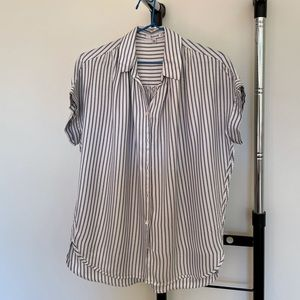 Stripped white and blue top from Madewell (XXS)